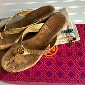⚡️Tory Burch Suzy Cork Wedge Sandals⚡️